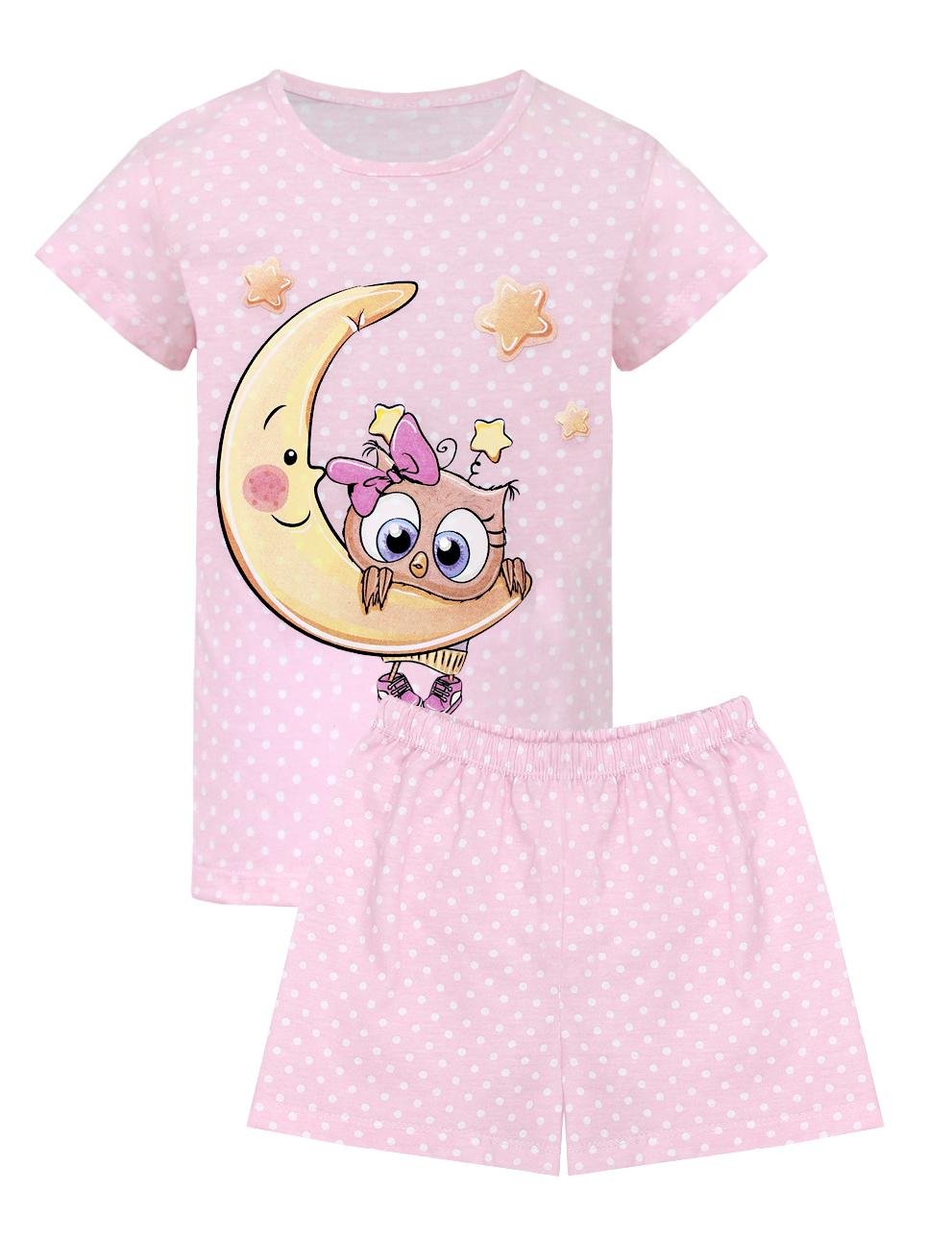 Пижама детская KETMIN Совушка цв.Розовый горох