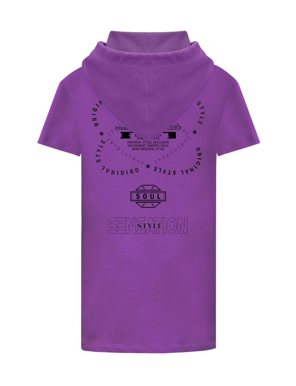 Платье-туника для девочки KETMIN Sensation цв.Фиолетовый