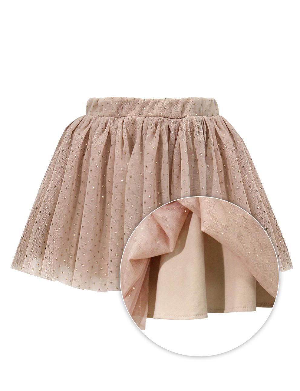 Детская юбка KETMIN цв.Бежевый с блёстками