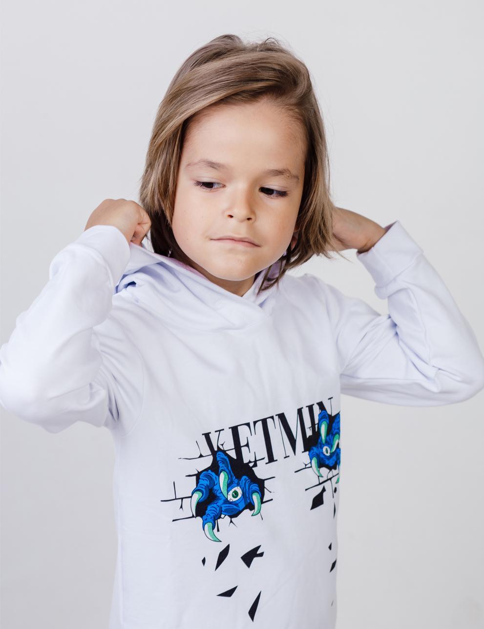 Детское худи с капюшоном KETMIN Когти цв.Белый
