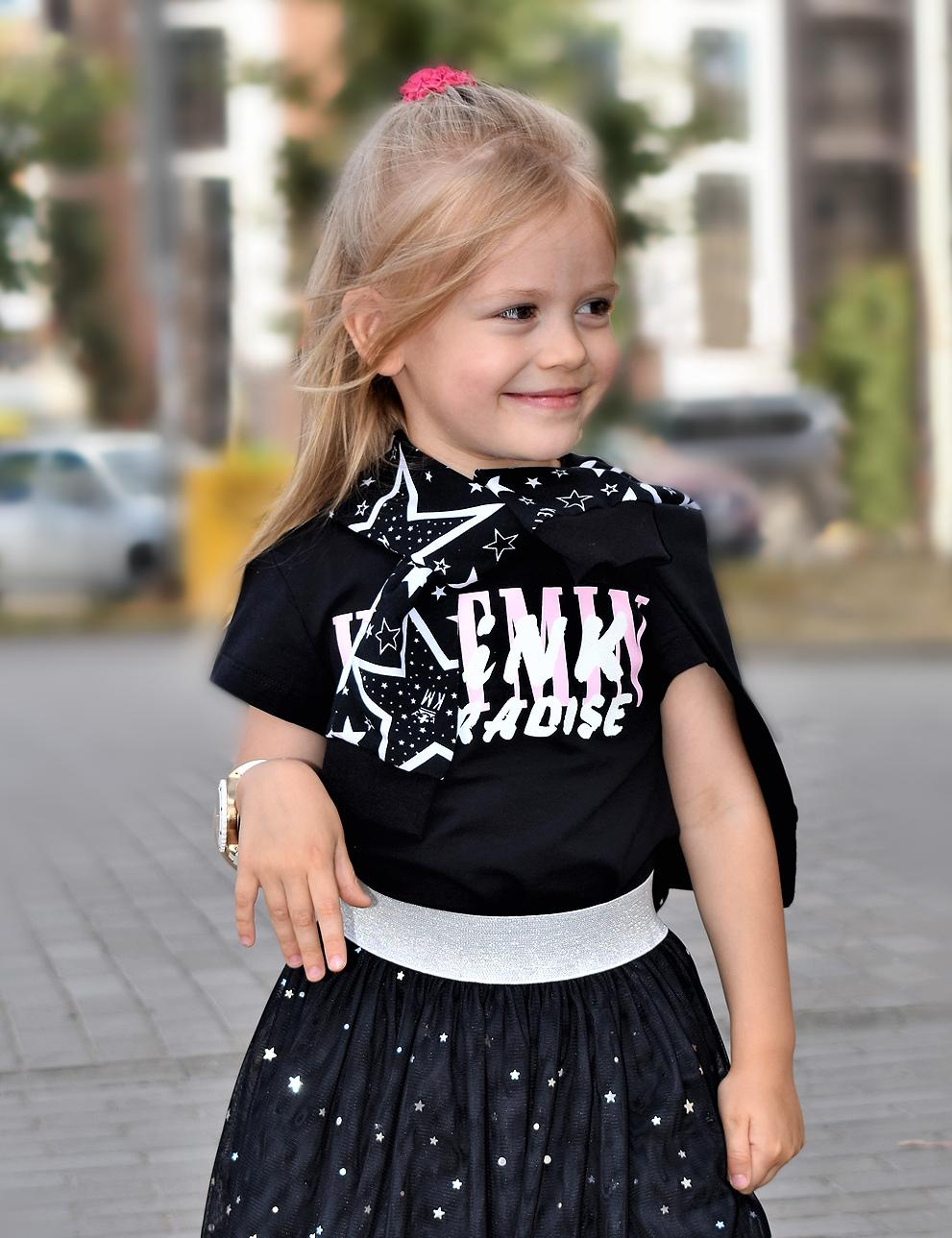 Детская футболка для девочки KETMIN PARADISE цв.Чёрный