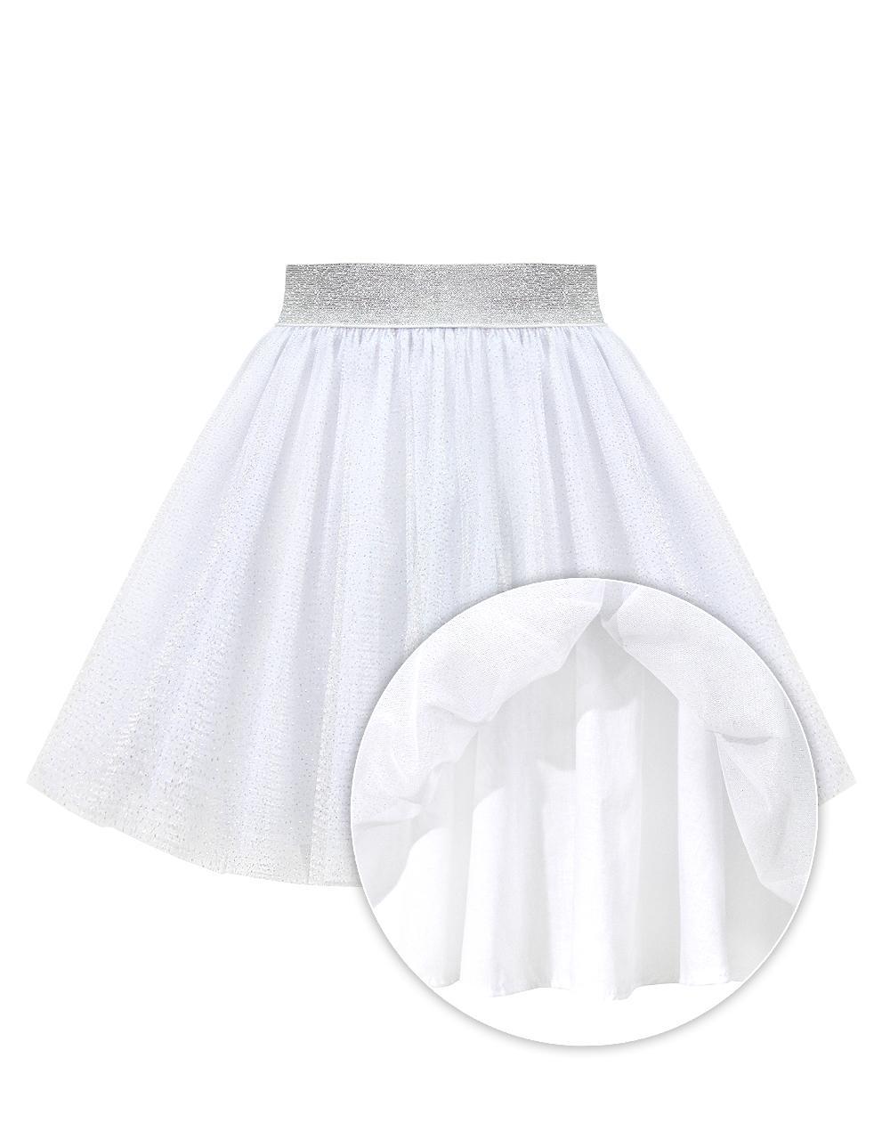Юбка для девочки Miss KETMIN Мерцающее серебро