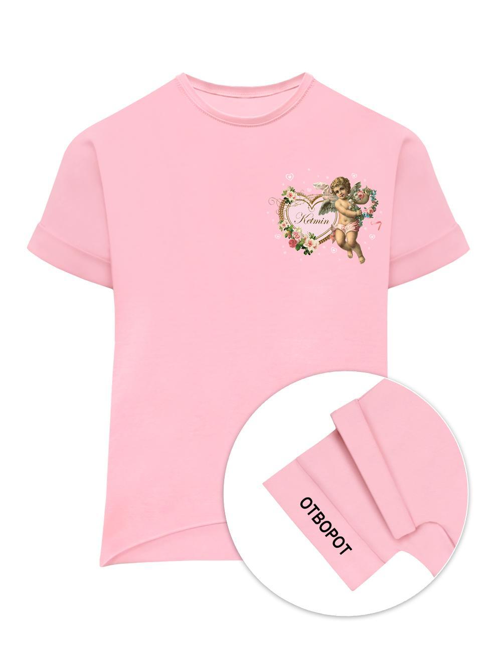 Футболка для девочки KETMIN Ангел цв.Розовый