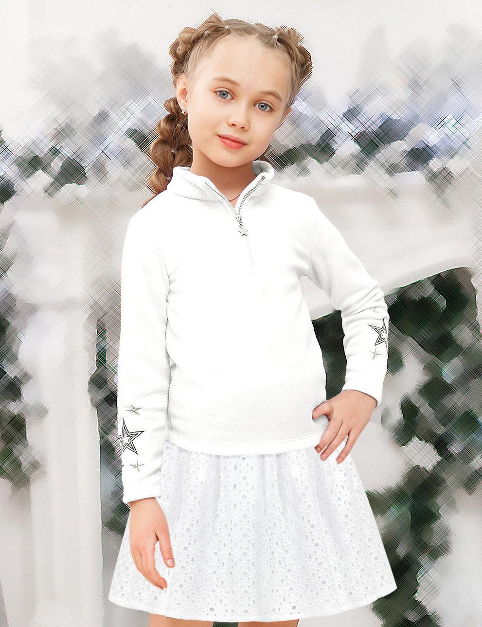 Юбка для девочки Miss KETMIN тк.Ришелье цв.Белый