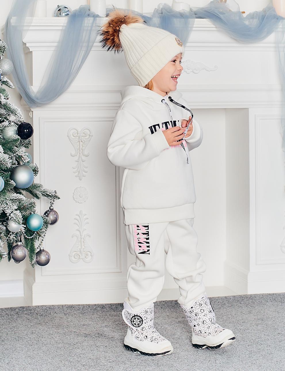 Детский спортивный костюм KETMIN Paradise с начёсом цв.Молочный