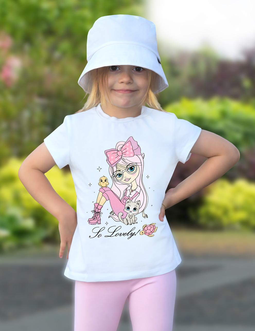 Детская футболка для девочки KETMIN Lovely цв.Белый