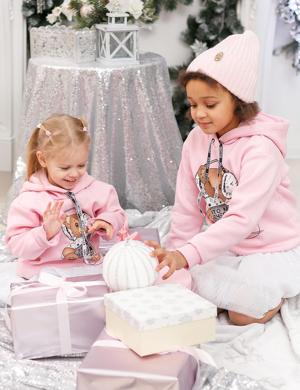 Детское худи KETMIN Вечеринка с начёсом цв.Розовый