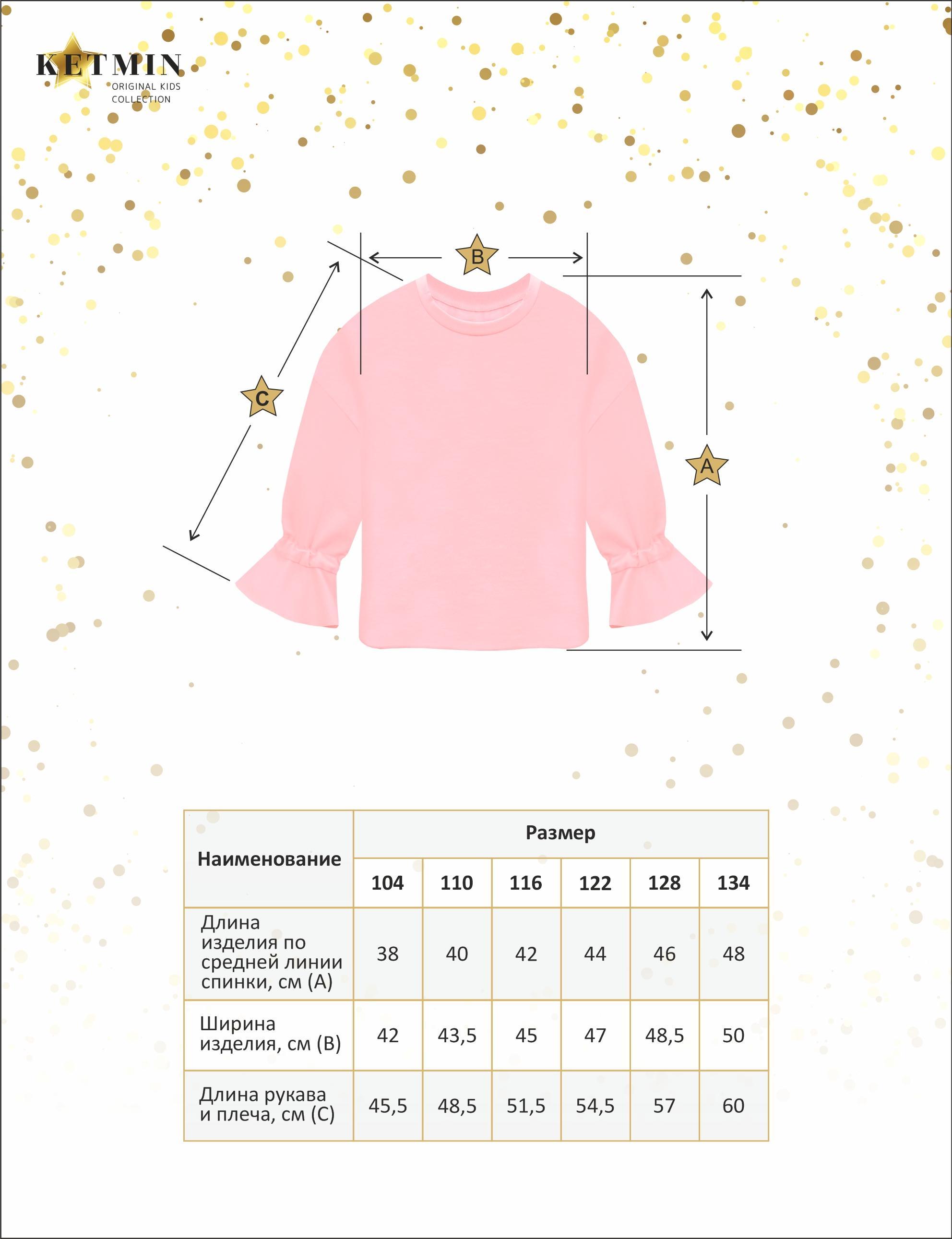 Толстовка детская для девочки KETMIN Stylish цв.Розовый