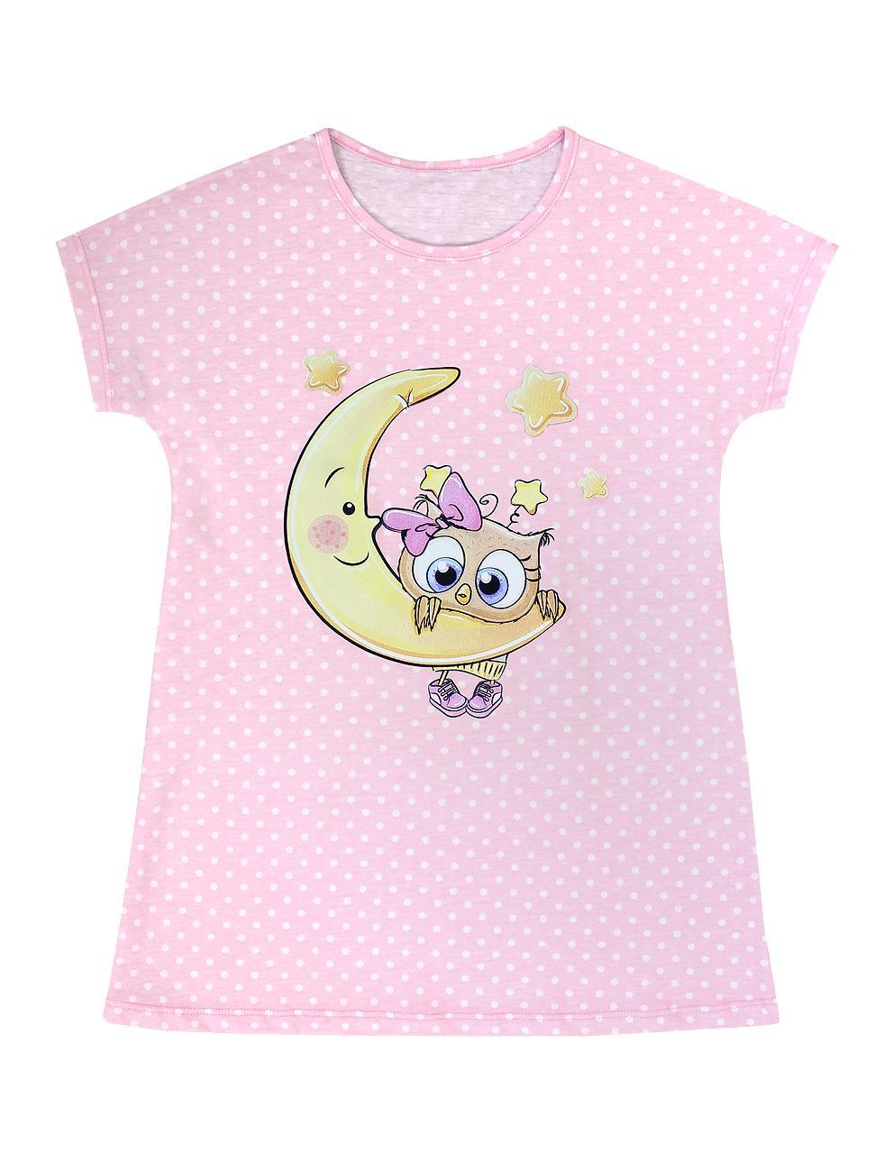 Сорочка детская KETMIN Совушка цв.Розовый горох