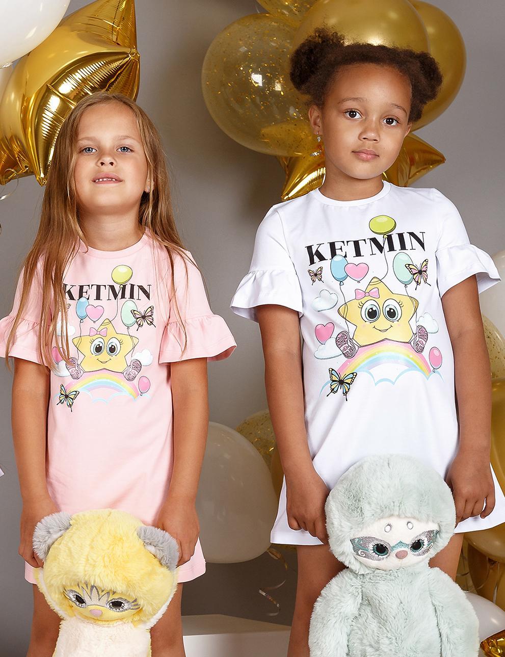 Белое детское платье KETMIN STAR mini