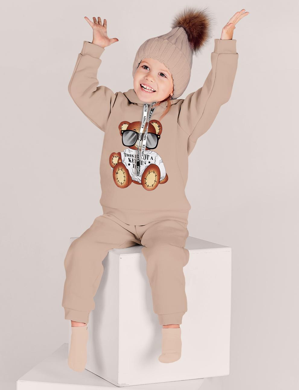 Детский костюм с начёсом This is not a toy KETMIN цв.Бежевый