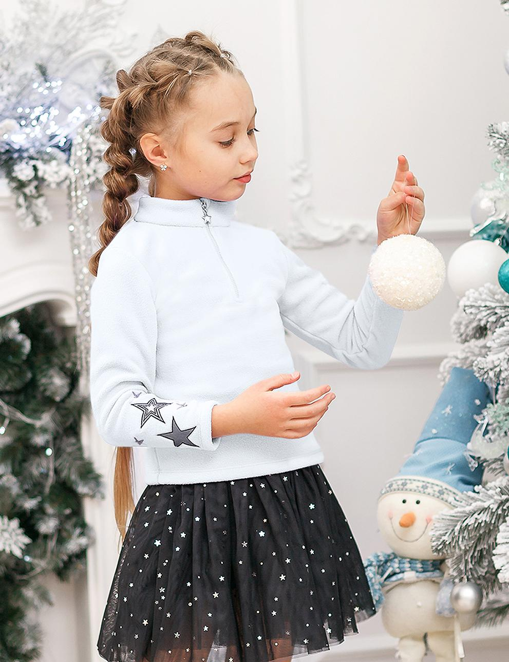 Толстовка детская флис KETMIN Princess цв.Белый