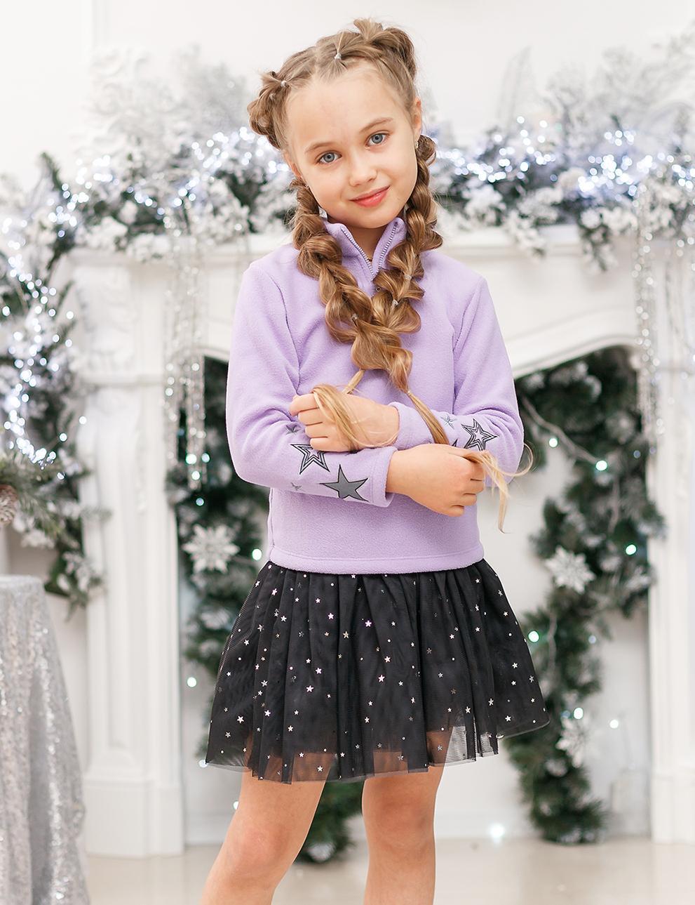 Толстовка детская флис KETMIN Princess цв.Сиреневый