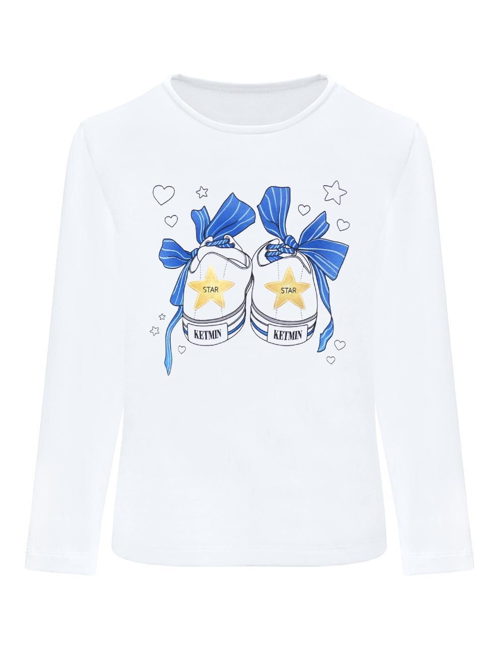 Лонгслив детский KETMIN Кеды цв.Белый/синий