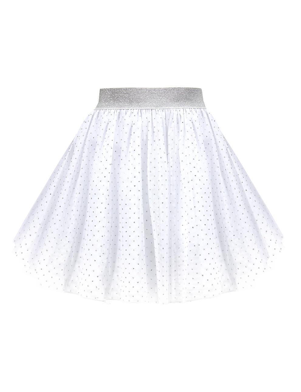 Юбка для девочки Miss KETMIN цв.Белый с блёстками