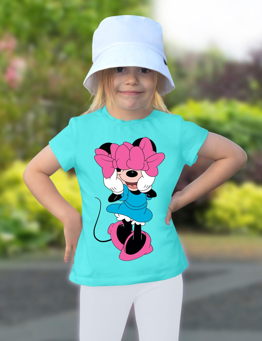 Детская футболка для девочки KETMIN Favorit Person цв.Бирюза