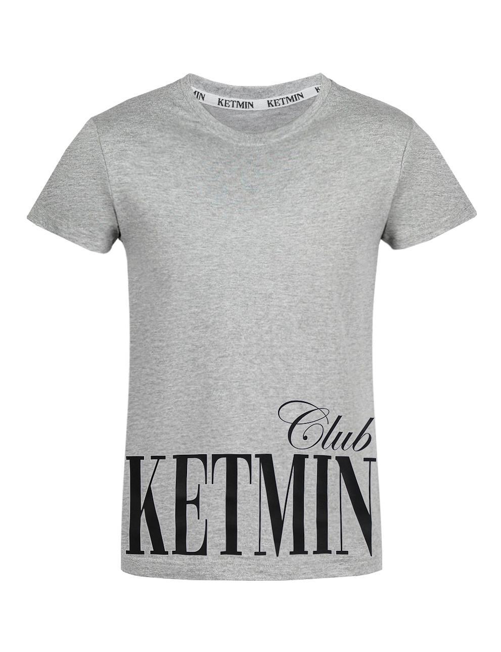 Детская футболка для девочки KETMIN CLUB цв.Серый меланж