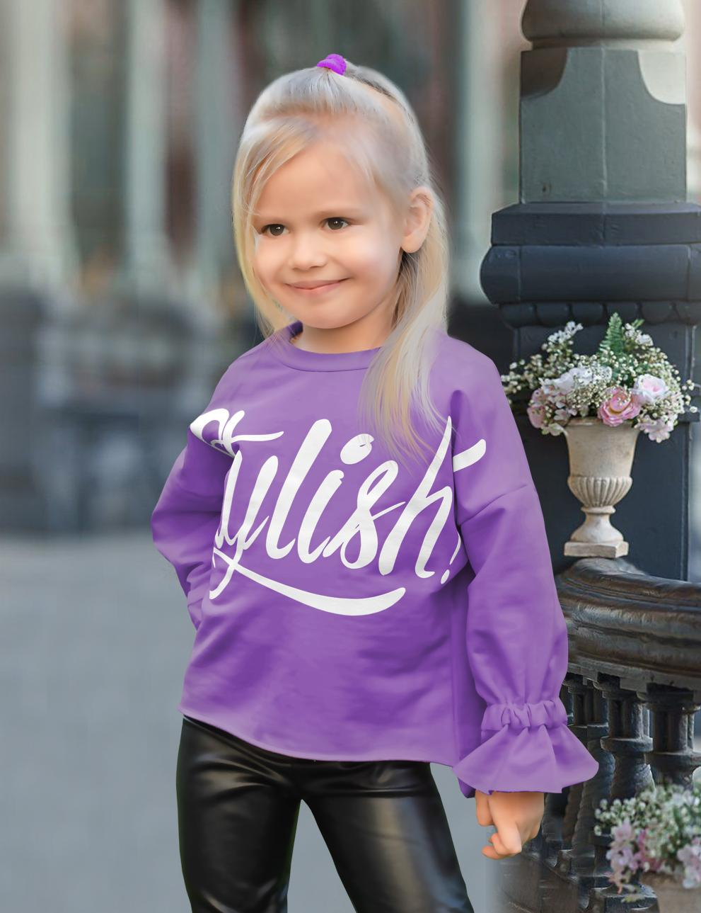 Толстовка детская для девочки KETMIN Stylish цв.Фиолетовый