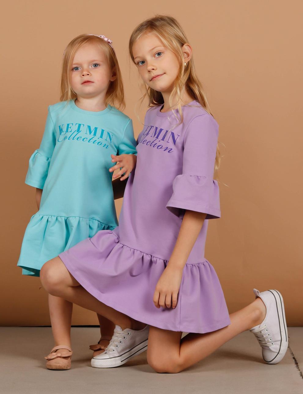 Платье для девочки KETMIN Collection цв.Лаванда