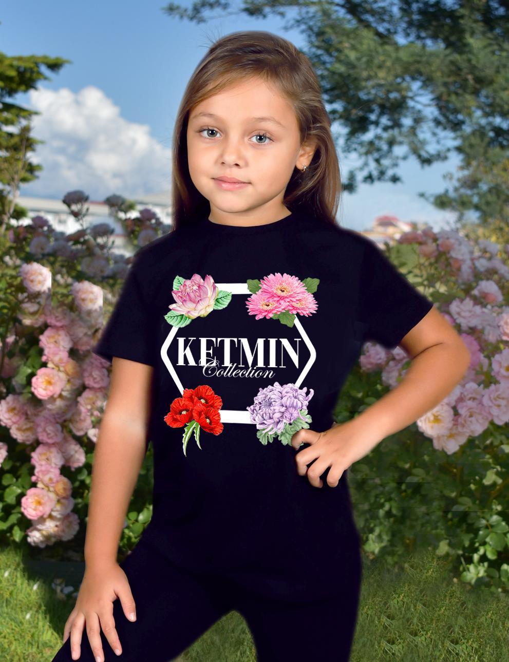 Детская футболка для девочки KETMIN Collection цв.Чёрный