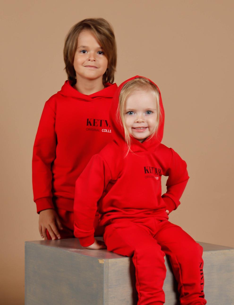 Детское худи с капюшоном KETMIN Original Collection цв.Рубин