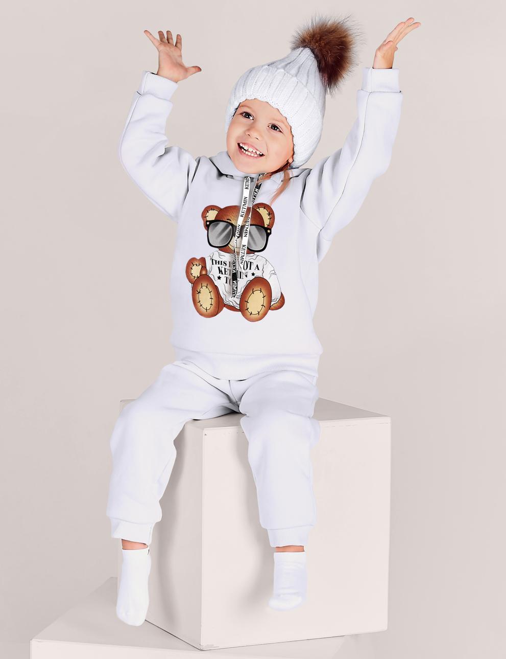 Детский костюм с начёсом This is not a toy KETMIN цв.Молочный