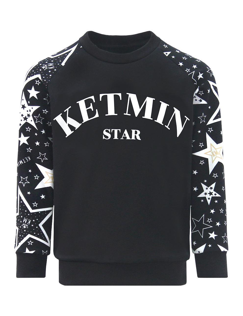 Свитшот детский KETMIN STAR реглан цв.Чёрный