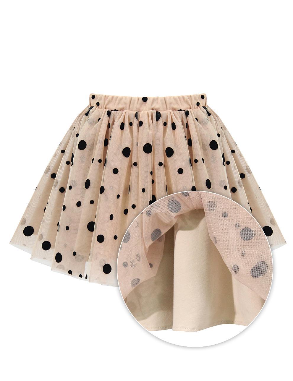 Детская юбка KETMIN Горох на бежевом