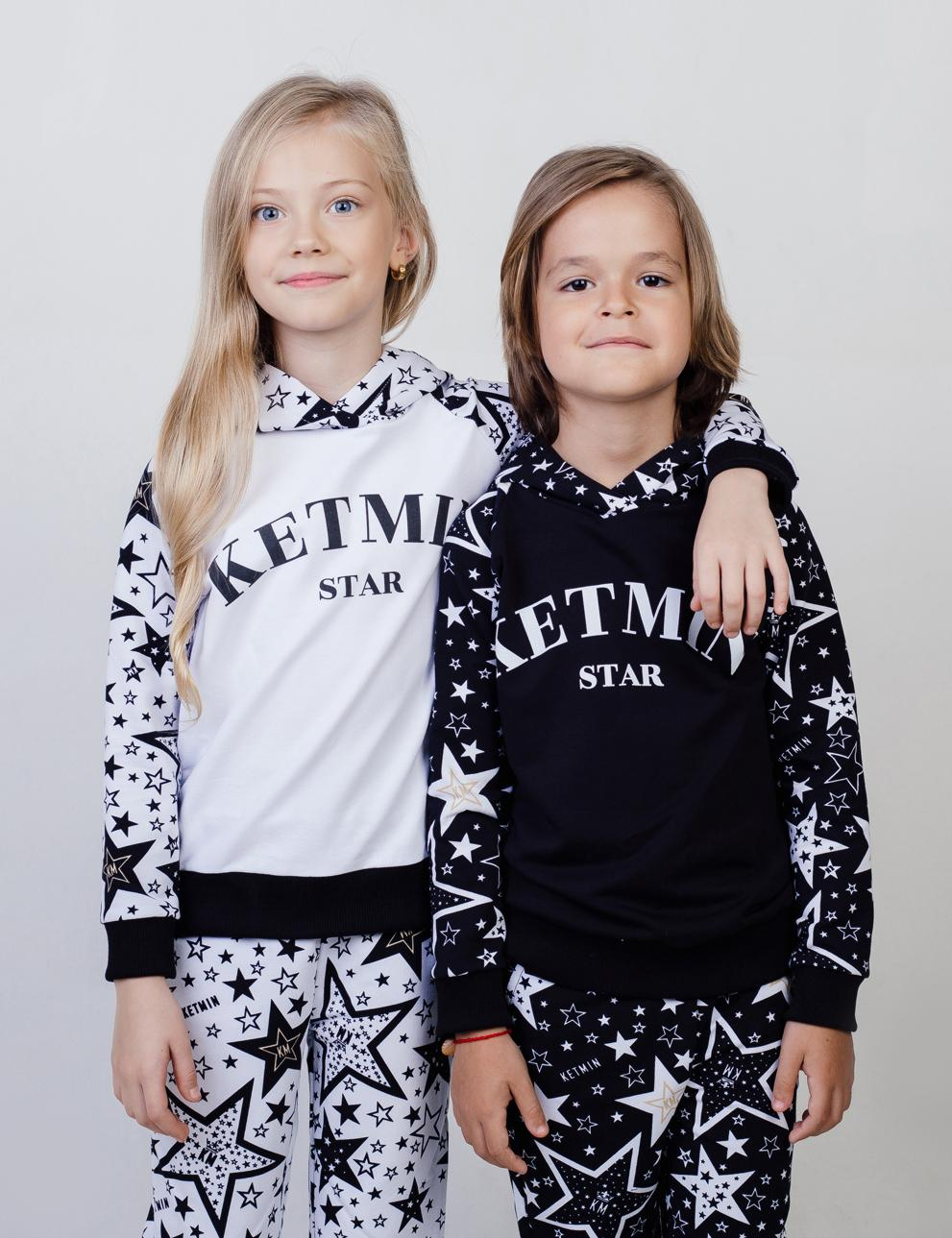 Детское худи с капюшоном KETMIN STAR реглан цв.Белый