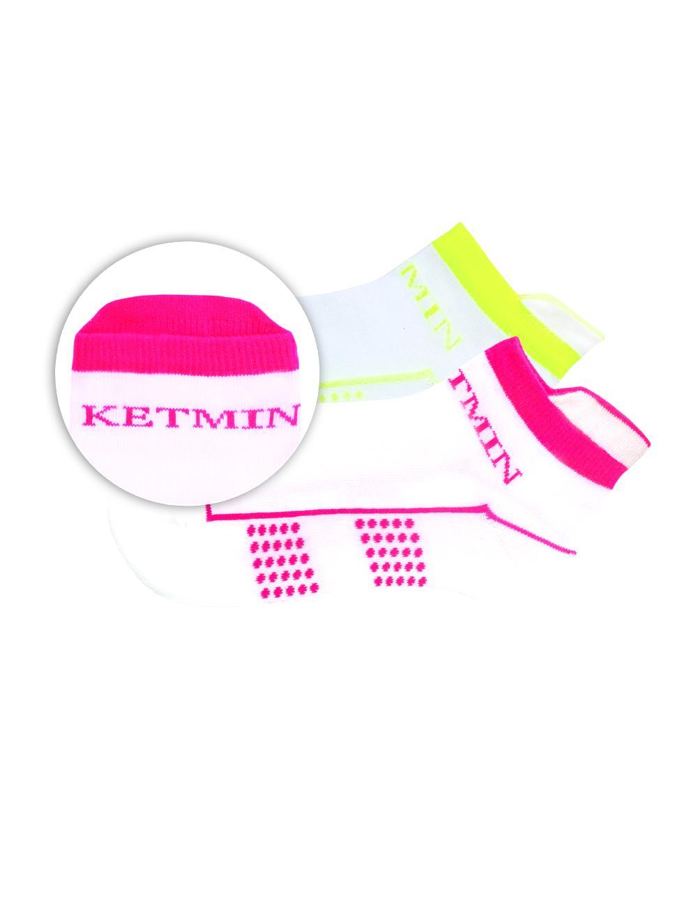 Носки KETMIN Exclusive цв.Белый/Салатовый; Белый/Розовый ( упак. 2 пары )