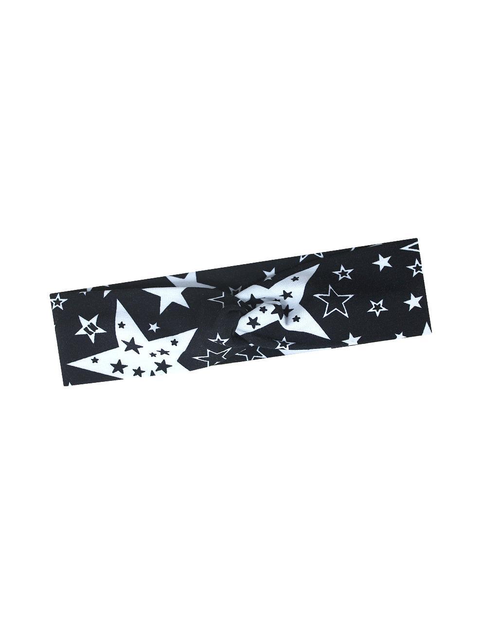 Повязка-бандана на голову KETMIN цв.STAR KM Чёрный