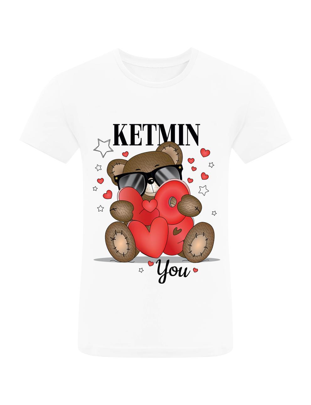 Детская футболка для девочки KETMIN Мишка LOVE цв.Белый