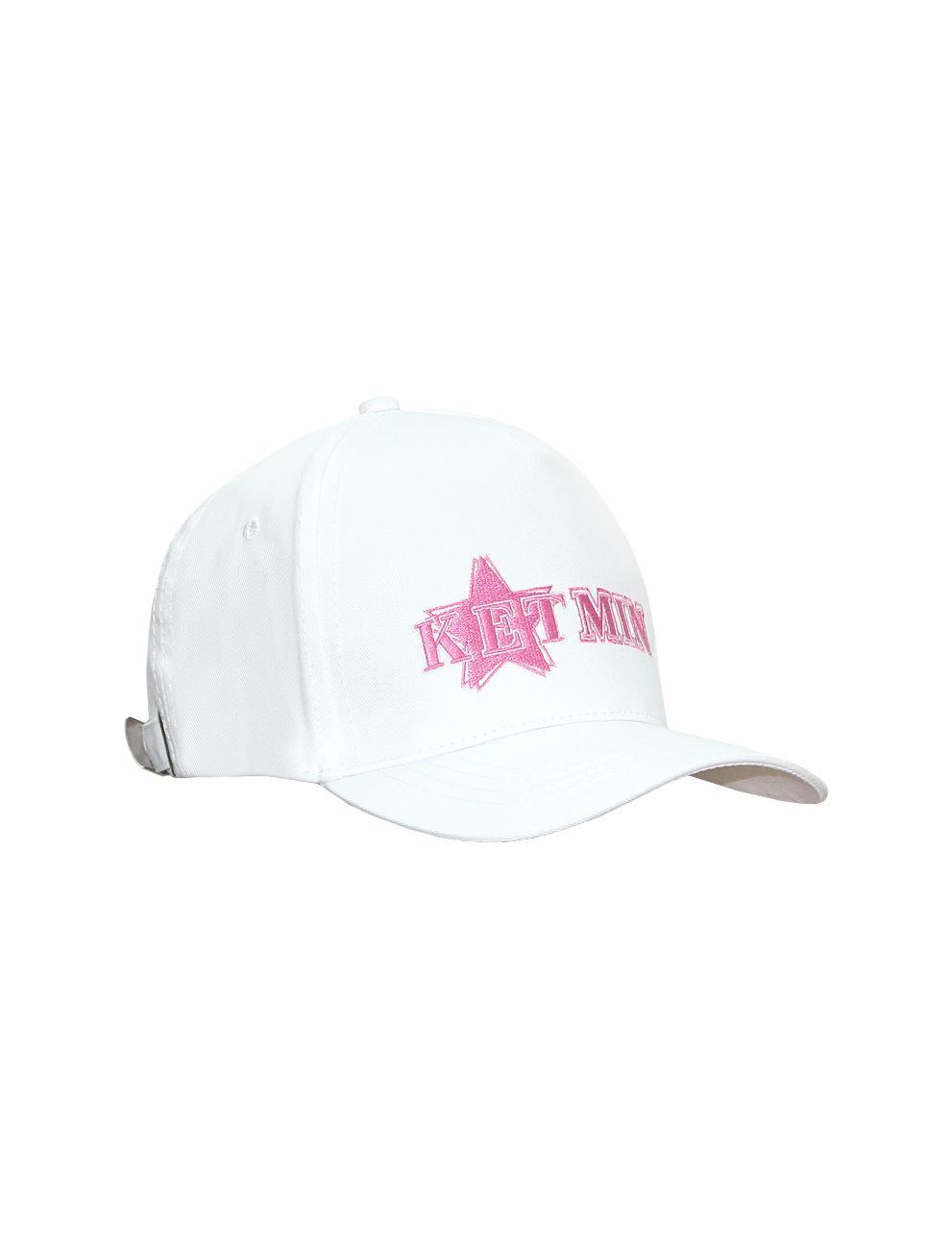Бейсболка KETMIN цв.Белый/розовый