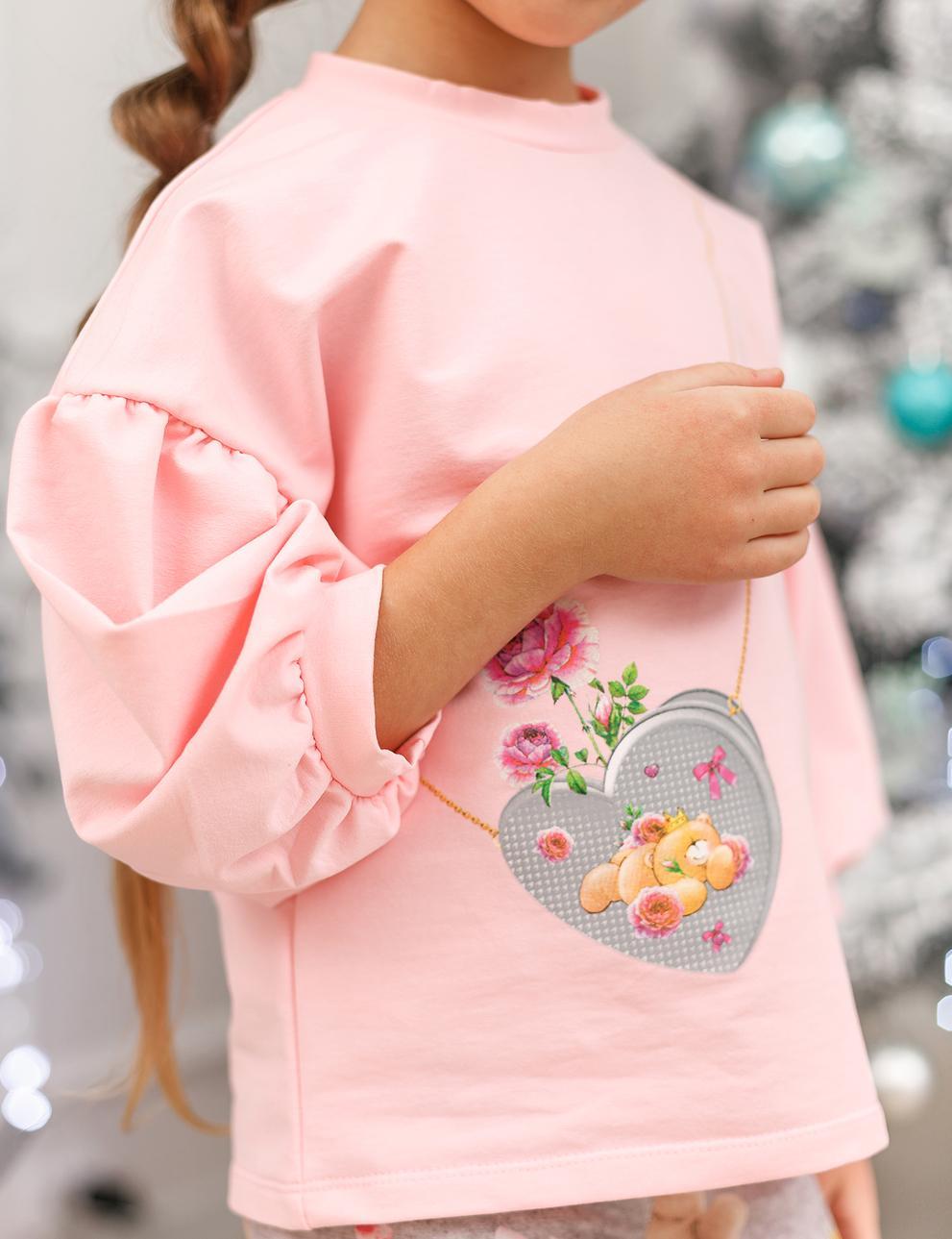 Детский костюм для девочки KETMIN Мишка с сумочкой цв.Розовый