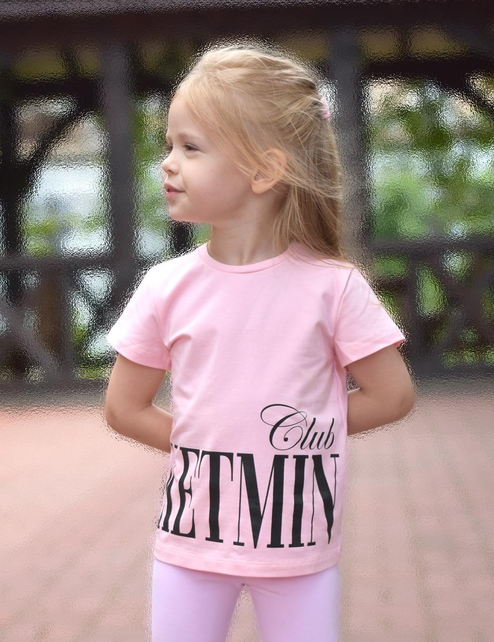 Детская футболка для девочки KETMIN CLUB цв.Розовый