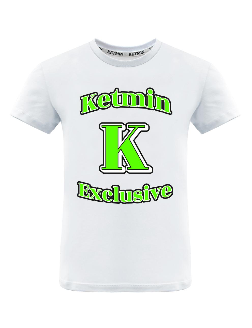 Детская футболка KETMIN Exclusive цв.Белый/салатовый