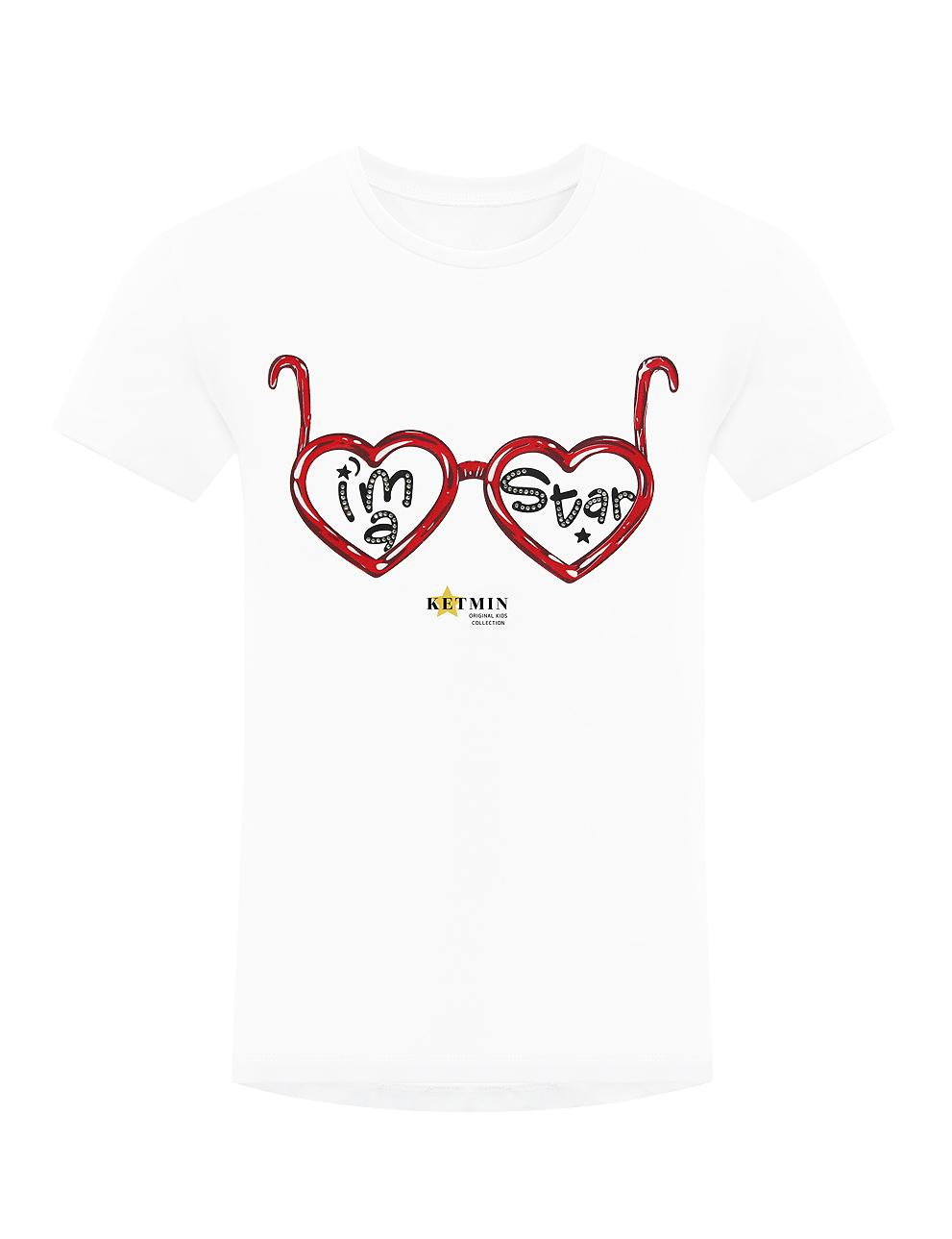 Детская футболка для девочки KETMIN I am Star цв.Белый