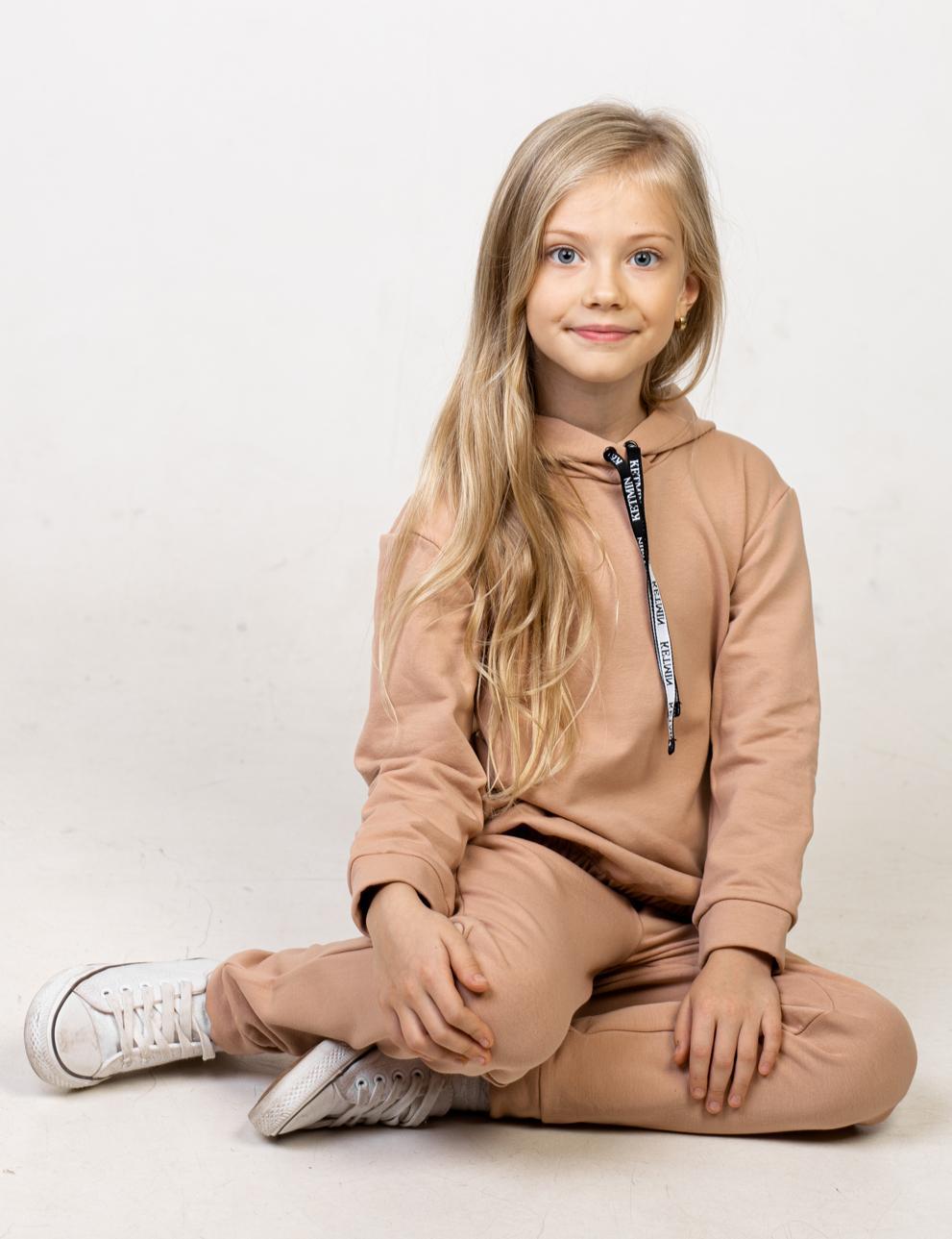 Детский спортивный костюм KETMIN с начёсом цв.Бежевый