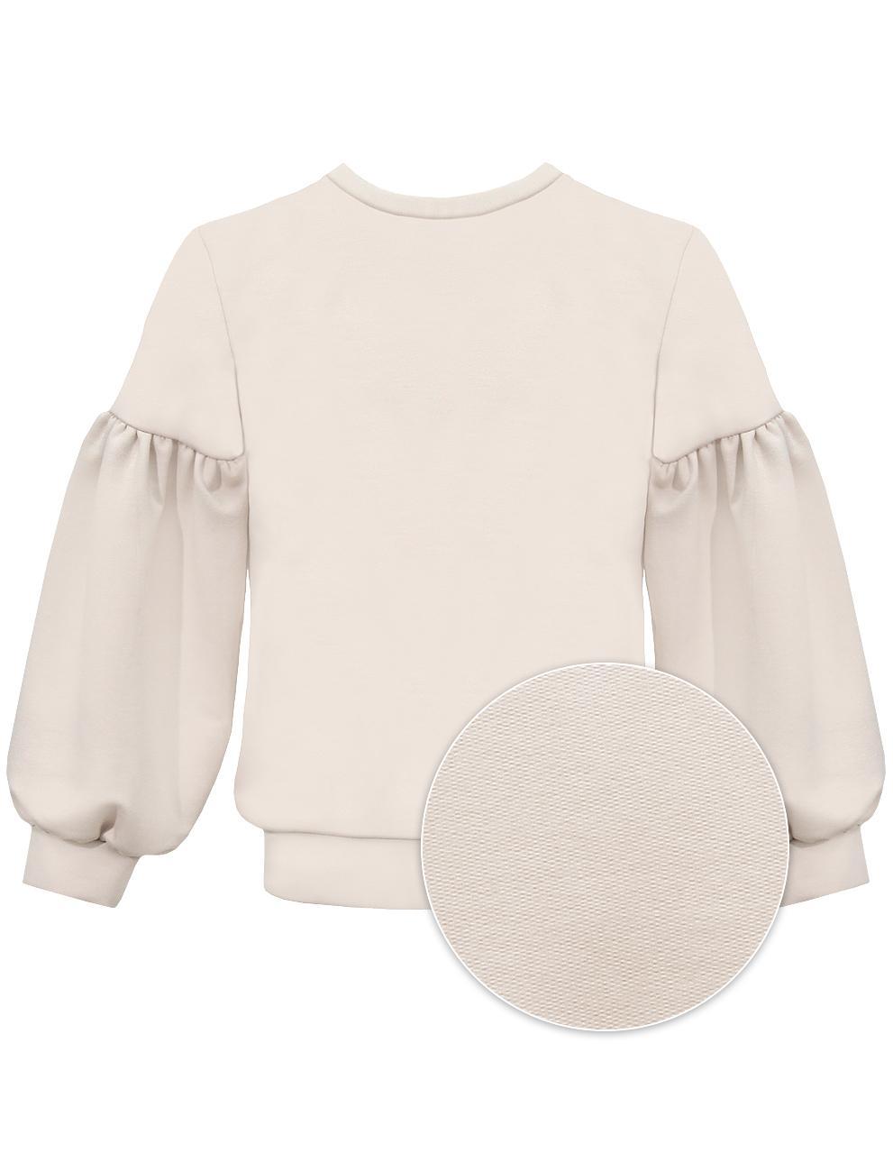Толстовка детская для девочки KETMIN Модница цв.Кремовый